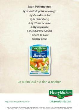 Déclaration de patrimoine du surimi Fleury Michon