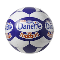 Ballon de foot Danette (PLV Gonflable), par EXOCOM