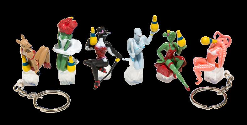 Porte clef figurine Orangina